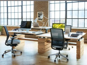 West Elm Workspace Height-Adjustable Benching Systems