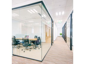 halumm demountable  glass + aluminum partition system