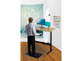 RISE UP electric bamboo standing desk