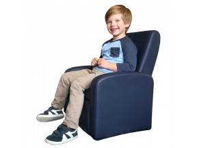STASH mini folding upholstered kids & toddler sofa chair with storage + ottoman