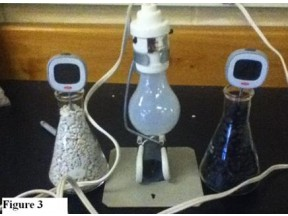Climate Change--Greenhouse Gas and Albedo in a bottle